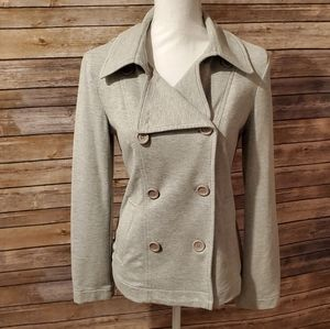 Grey Knit Pea Coat